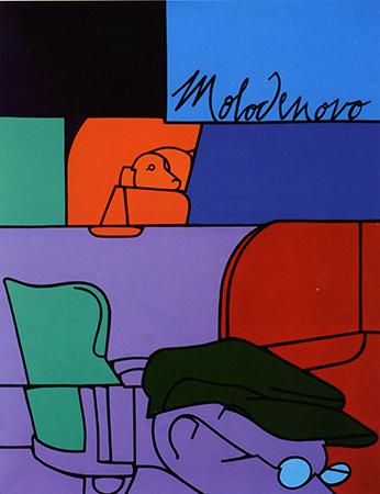 Valerio Adami 1972 Acrilico su tela 116.2 x 88.8 cm 3