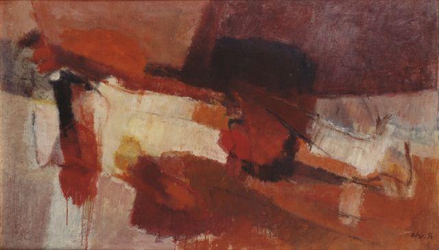 (Basaldella) Afro Anno 1956   Oil on canvas 89x144 cm 1
