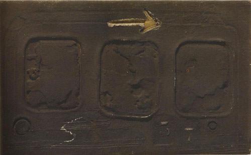 Antoni Tapies 1981 Olio e sabbia su pannello 33x55 cm 2