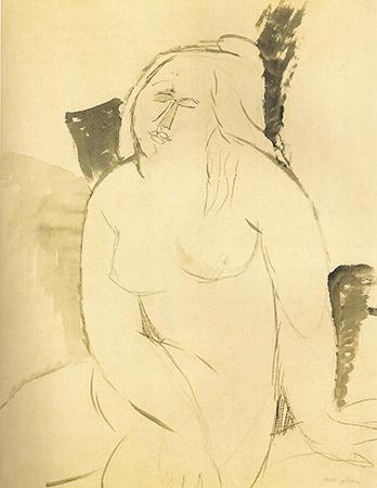 Amedeo Modigliani 1914-16 Acquarello e matita su carta 54.6 x 42.6 cm 1