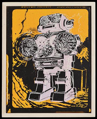 Andy Warhol vernice sintetica ed inchiostri serigrafici su tela 1983_25.5 x 20.3 cm 2