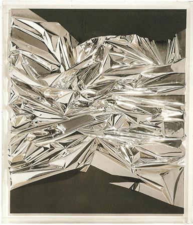Anselm Reyle 2007 Pellicola di PVC e acrilico su tela in scatola di plexiglass 142.2 x 121 x 19.7 cm 1