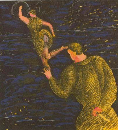 Sandro Chia 1981 mista su carta 165-7x149-8 cm 1