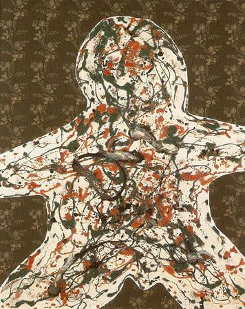 Enrico Baj 1961 Olio su stoffa applicata su tela 146x114 cm 1