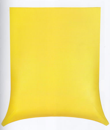 Agostino Bonalumi 1966 tela estroflessa e tempera vinilica 72x78x21 cm 2