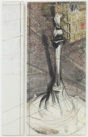 Christo 1976 tecnica mista 245.1x39.4 e 245.1x108 cm  8
