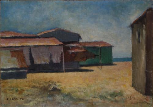 Carlo Carrà 1932 olio su cartone telato 28x40 cm 1