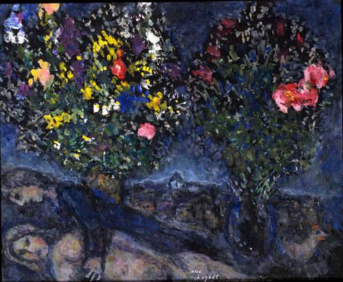 Marc Chagall 1980 olio su cartone 38x46 cm 1