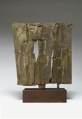 Pietro Consagra 1958 bronzo  37x34x3 cm 1