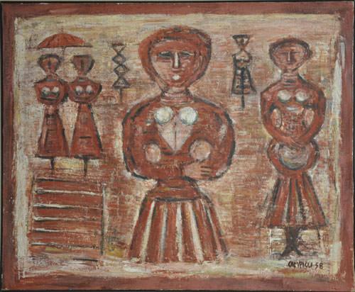 Massimo Campigli 1958 olio su tela 81x100 cm 3