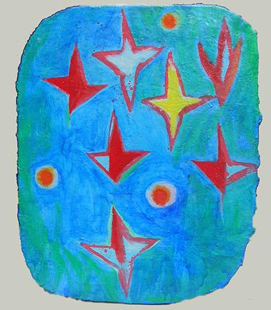 Nicola De Maria 1986 olio su tela 50 x 40 cm 1
