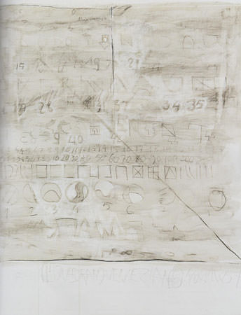 Gastone Novelli 1967 Olio e tecnica mista su tela 195x160 cm 1