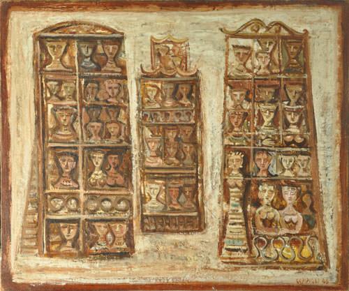 Massimo Campigli 1946 olio su tela 44x54 cm 1