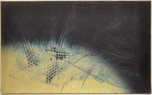 Hans Hartung 1965 Olio su tela 30x61 cm 3