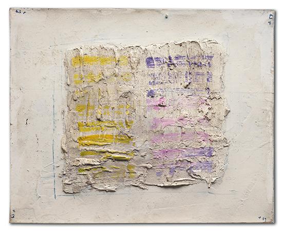 Jean Fautrier 1959 olio su carta intelata su tela 50 x 61 cm 1