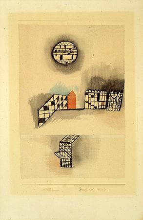 """Paul Klee 1928  Acquerello e inchiostro su carta 37,5 x 25,5 cm  Firmato """"Klee 1928 T 4 Freieres in fester kleinteilung"""" Autentica su fotografia rilasciata dal Kunstmuseum di Berna 2"""