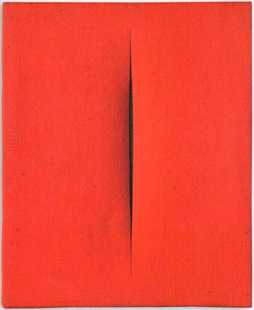 Lucio Fontana 1964-1965 idropittura su tela 27x22 cm 8