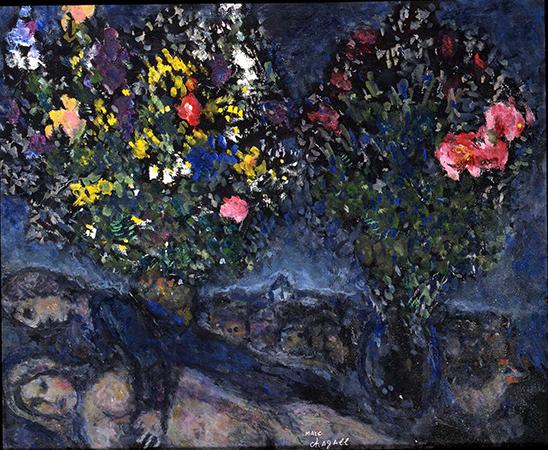 Marc Chagall 1980  olio su cartone 38 x 46 cm 1