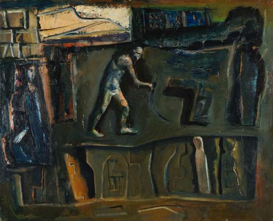 Mario Sironi Olio su tela 100.5x80 cm 1
