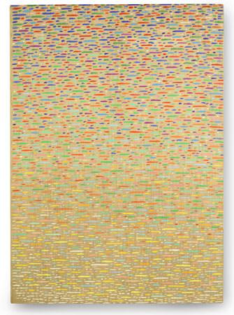 Piero Dorazio 1975 olio su tela 105x75 cm 1
