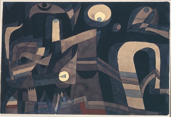 Paul Klee 1921 Tecnica mista su cartoncino 14.7x21.7 cm 2