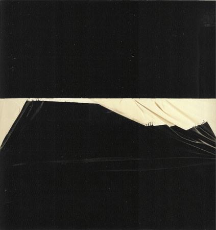 Steve Parrino 1991 tecnica mista su due tele 214x214 cm 1