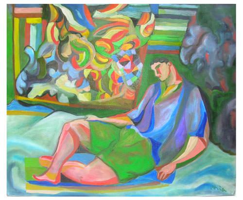 Sandro Chia 1999 olio su tela  90x110 cm 2