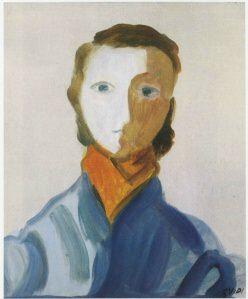 Virgilio Guidi 1956 olio su tela 60x50 cm 2