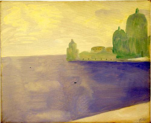 Virgilio Guidi 1955 olio su tela 50x61 cm 1
