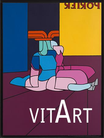 Valerio Adami 1970 Acrilico su tela  198 x 147 cm  2