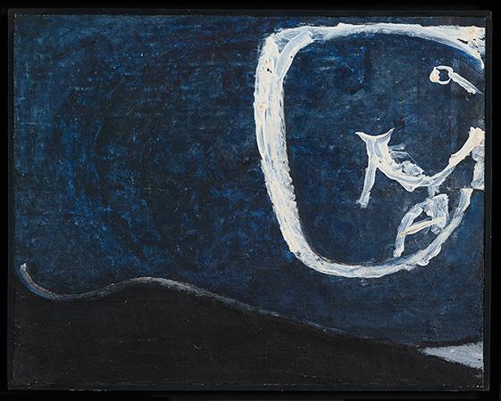 Osvaldo Licini 1945 Olio su carta intelata  22,5x28,5 cm 1