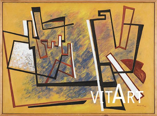 Alberto Magnelli 1943 Olio su tela 73 x 100 cm 1