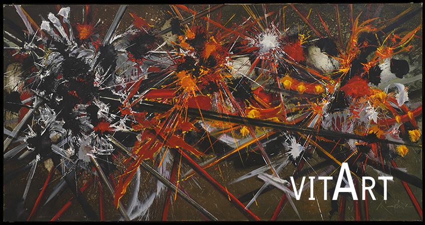 Georges Mathieu 1985 Resine alchidiche su tela 130 x 250 cm 2