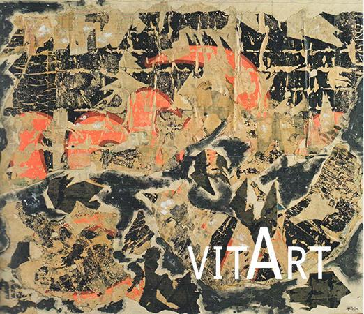 Mimmo Rotella 1957  Retro d'affiche su tela 106.5 x 125 cm 1