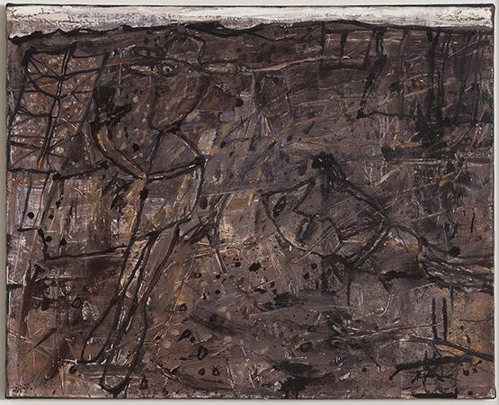 Jean Dubuffet Paysage Desoriente  1957 Olio su tela 65 x 81 cm 1